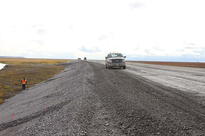 New embankment on the Dalton Highway